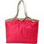Bolso  cabas  mediano con cremallera feuillage or rose - PPMC