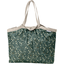 Bolso  cabas  mediano con cremallera fleuri kaki - PPMC