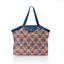 Pleated tote bag - Medium size fleurs de savane - PPMC