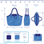 Pleated tote bag - Medium size wild winter