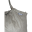 Pleated tote bag - Medium size silver linen