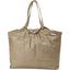 Bolso  cabas  mediano con cremallera lino oro - PPMC