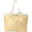 Bolso  cabas  mediano con cremallera mimosa jaune rose