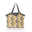 Pleated tote bag - Medium size yellow sheep