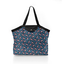 Pleated tote bag - Medium size flowered night - PPMC