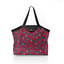 Pleated tote bag - Medium size oiseau de noël - PPMC