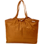 Bolso  cabas  mediano con cremallera caramelo dorado paja - PPMC