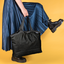 Pleated tote bag - Medium size golden straw