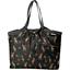 Bolso  cabas  mediano con cremallera palma girafe - PPMC
