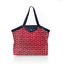 Pleated tote bag - Medium size paprika petal - PPMC