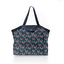 Pleated tote bag - Medium size poules en ciel
