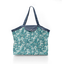Pleated tote bag - Medium size celadon violette - PPMC