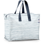 Storage bag striped blue gray glitter - PPMC