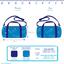 Duffle bag paradis bleu