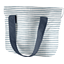 Cooler bag striped blue gray glitter - PPMC