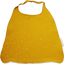 Serviette enfant élastique gaze jaune or - PPMC