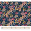 Cotton fabric pink blue dalhia