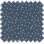Tissu coton etoile argent jean - PPMC