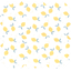 Cotton fabric yellow and white citrus - PPMC