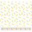 Cotton fabric yellow and white citrus