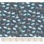 Tissu coton au mètre dino bleu ex1063
