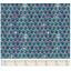 Cotton fabric fuchsia green geometrical flowers ex1072