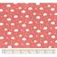 Tissu coton au mètre nuages rouge ex1083