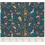 Tissu coton au mètre animaux exotiques fond marine ex1093