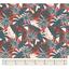 Tissu coton au mètre feuillage graphique ex1094