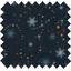 Cotton fabric flakes and copper dots navy - PPMC