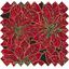 Cotton fabric gold poinsettia ex1106 - PPMC