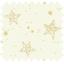 Cotton fabric cream and gold géometric stars ex1109 - PPMC