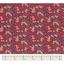 Cotton fabric vermilion foliage
