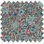 Tela  algodón flor mentolada - PPMC