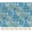 Cotton fabric blue forest
