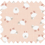 Cotton fabric pink sheep - PPMC