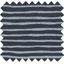 Cotton fabric striped silver dark blue - PPMC