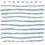 Cotton fabric striped blue gray glitter