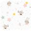 Cotton fabric souris rêveuses - PPMC