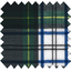 Coated fabric green and white tartan - PPMC