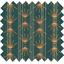 Tissu enduit  au mètre eventail or vert - PPMC