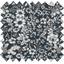 Tissu enduit  au mètre violette pervenche marine ex1039 - PPMC