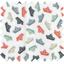 Tissu enduit  au mètre bateaux vert et rouge ex1046 - PPMC