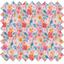 Tissu enduit  au mètre fleurs pastel ex1048 - PPMC