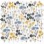 Tissu enduit  au mètre fleurs graphique ex1051 - PPMC