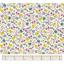 Tissu enduit  au mètre fleuri jaune gris crème ex1059