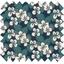 Tissu enduit  au mètre fleurs nocturne ex1078 - PPMC