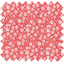 Tissu enduit  au mètre petites fleurs rougeex1087 - PPMC