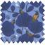 Tissu enduit  au mètre oiseau bleu ex1110 - PPMC