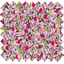 Coated fabric rasberry flowery - PPMC